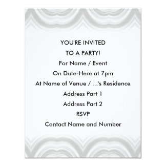 Pastel Gray Abstract Pattern. 11 Cm X 14 Cm Invitation Card