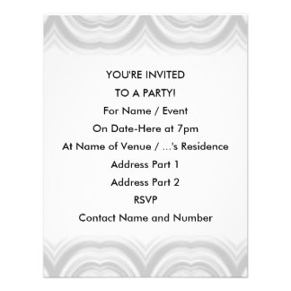 Pastel Gray Abstract Pattern Invitations
