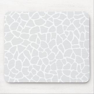 Pastel Gray Animal Print Giraffe Pattern Mousepad