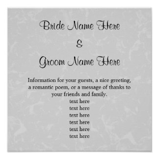 Pastel Gray Subtle Abstract Background Wedding Poster