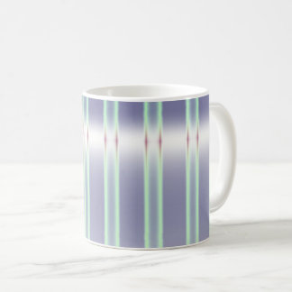 Pastel Green and Purple Striped Coffee Mug