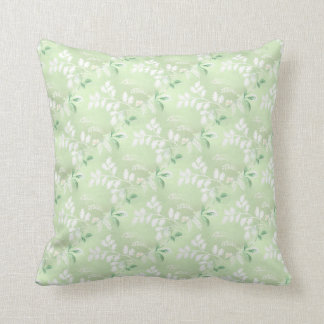 Pastel Green Floral Pillow