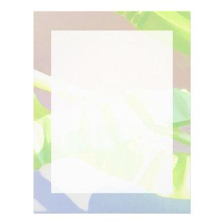Pastel Green Leaves. 21.5 Cm X 28 Cm Flyer