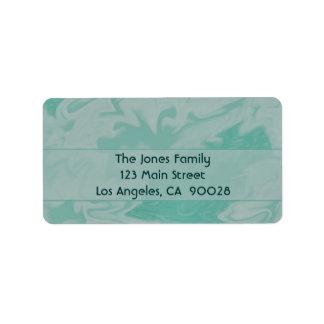 Pastel green Marble Design Address Label