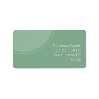 Pastel Green mod circle Address Label
