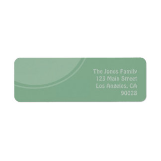 Pastel Green mod circle Return Address Label