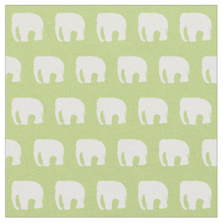 Pastel Green Nursery Fabric, Elephant Fabric
