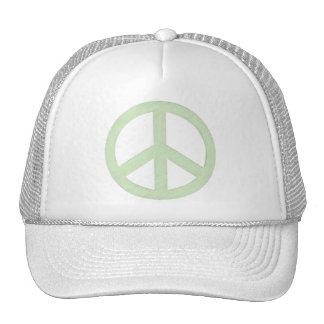 Pastel Green Peace Sign Cap