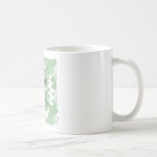 Pastel Green Spiral Smoke Teddy Bear Mug