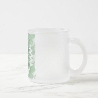 Pastel Green Spiral Smoke Teddy Bear Mugs