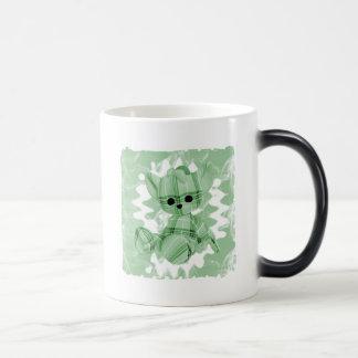 Pastel Green Spiral Smoke Teddy Bear Coffee Mug
