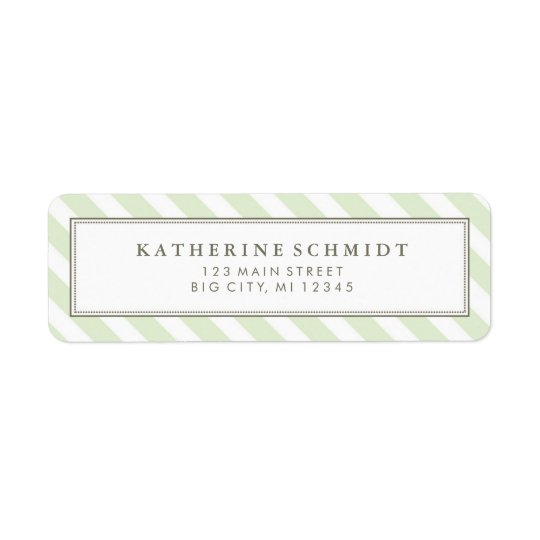 Pastel Green Stripes - Return Address Labels