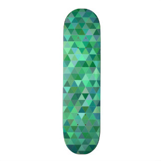 Pastel green triangles custom skate board