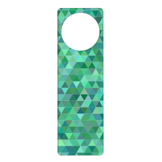 Pastel green triangles door hanger