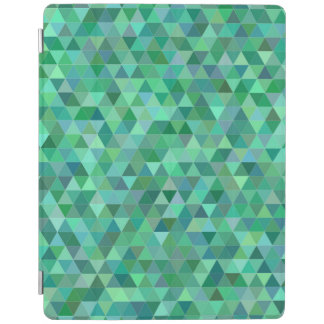 Pastel green triangles iPad cover