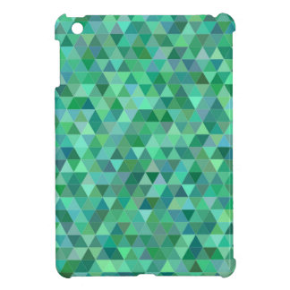 Pastel green triangles iPad mini cover