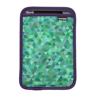 Pastel green triangles iPad mini sleeve
