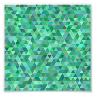 Pastel green triangles photo print