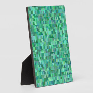 Pastel green triangles plaque