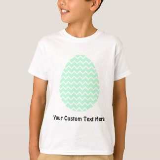 Pastel Green Zigzag Easter Egg. Tee Shirts