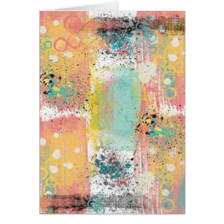 Pastel Grunge Abstract Birthday Card