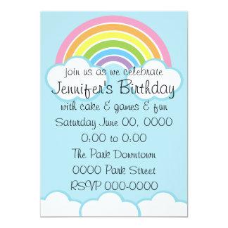 Pastel Happy Little Rainbow Card