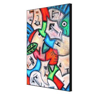 Pastel heads by rafi talby canvas print