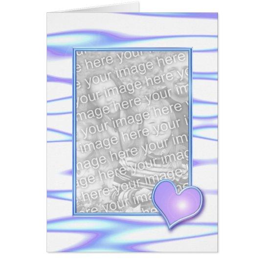 Pastel Heart Design (photo frame) Card