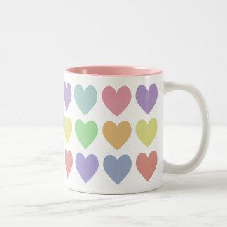 Pastel Hearts Mug