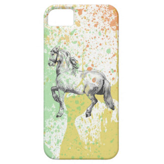 Pastel horse sketch paint splatter design horses iPhone 5 covers