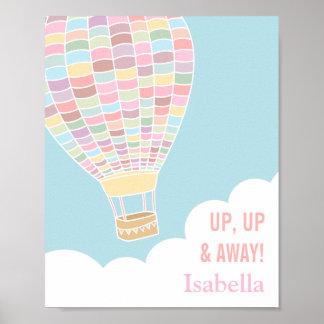 Pastel Hot Air Balloon Girls Room Decor