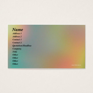 Pastel Hues Business Card