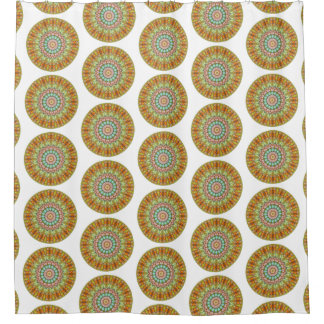 Pastel Jellybean Round Mandala (Lg Print) Shower Curtain