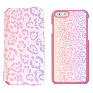 Pastel Kawaii Leopard Rainbow Animal Print Incipio Watson™ iPhone 6 Wallet Case