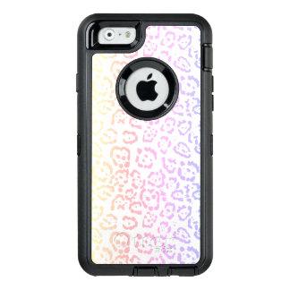 Pastel Kawaii Leopard Rainbow Animal Print OtterBox Defender iPhone Case