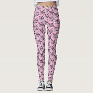 Pastel Kitty Cat Leggings