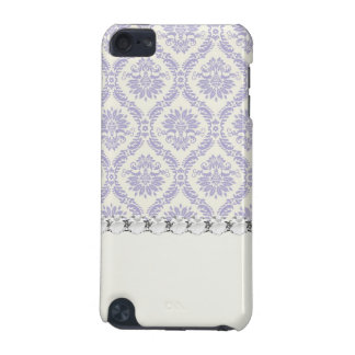 pastel lavender and cream ecru ivory lovely damask iPod touch 5G case