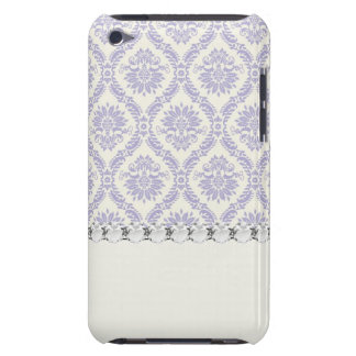 pastel lavender and cream ecru ivory lovely damask iPod touch covers
