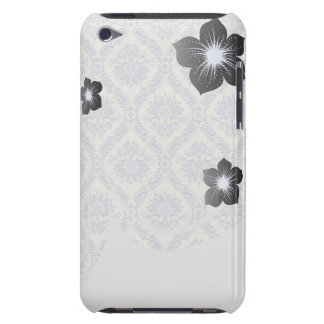 pastel lavender and cream ecru ivory lovely damask barely there iPod cases