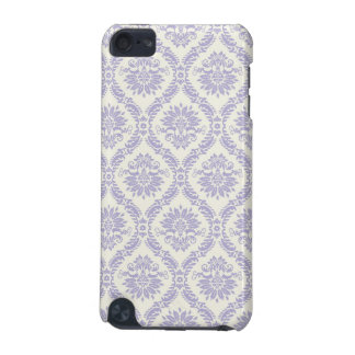pastel lavender and cream ecru ivory lovely damask iPod touch (5th generation) cases