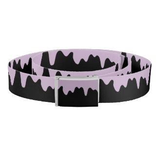 Pastel Lavender Toxic Drip Canvas Belt