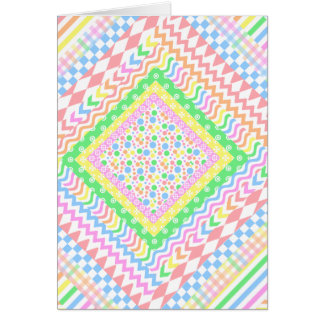Pastel Layers Greeting Card