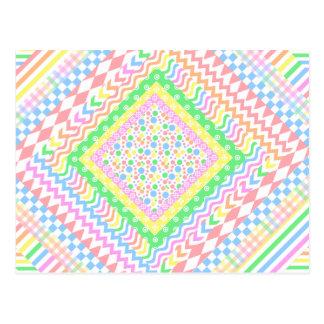 Pastel Layers Postcard