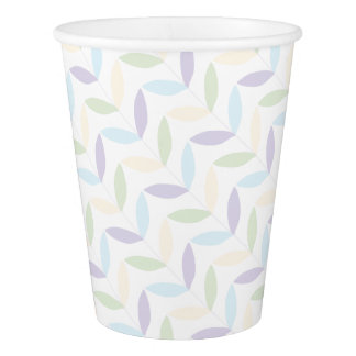 Pastel Leafs Paper Cup