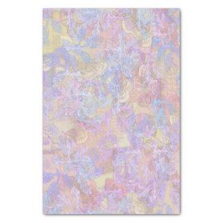 Pastel Leaves Marbled Print Tissue Paper