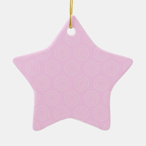 Pastel Light Pink Circles Pattern Christmas Ornaments