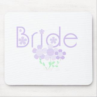 Pastel Lilac Flowers Bride Mouse Pad