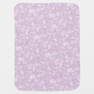 Pastel Lilac Spring Paisely Swaddle Blankets