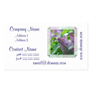 Pastel Lilacs Pack Of Standard Business Cards