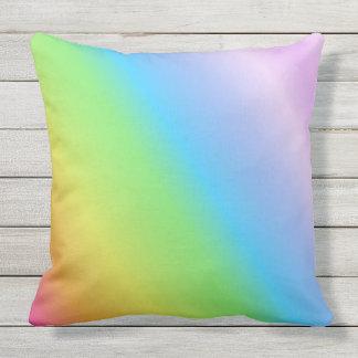 Pastel Linear Rainbow Cushion